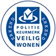 Logo Erkend Politiekeurmerk Veilig Wonen